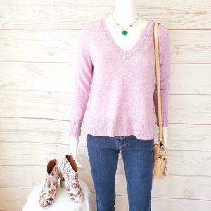 J. Crew pretty soft lilac knit pullover sweater